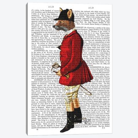 Fox Hunter I Canvas Print #FNK1056} by Fab Funky Canvas Print