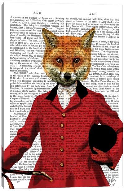 Fox Hunter Portrait, Print BG Canvas Art Print