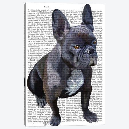 French Bulldog Canvas Print #FNK1065} by Fab Funky Canvas Artwork