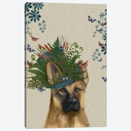 German Shepherd II Canvas Print #FNK106} by Fab Funky Canvas Wall Art