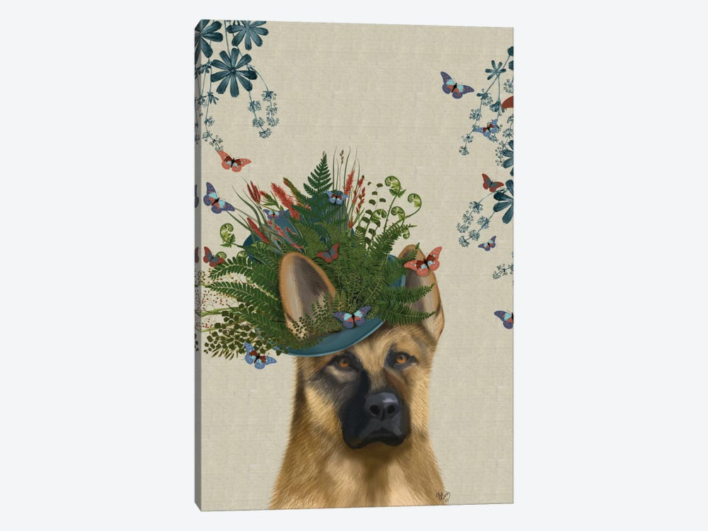 German Shepherd II by Fab Funky 1-piece Art Print