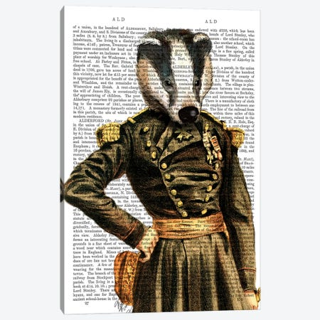 General Badger Canvas Print #FNK1070} by Fab Funky Canvas Art