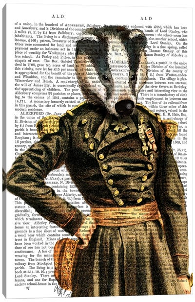 General Badger Canvas Art Print