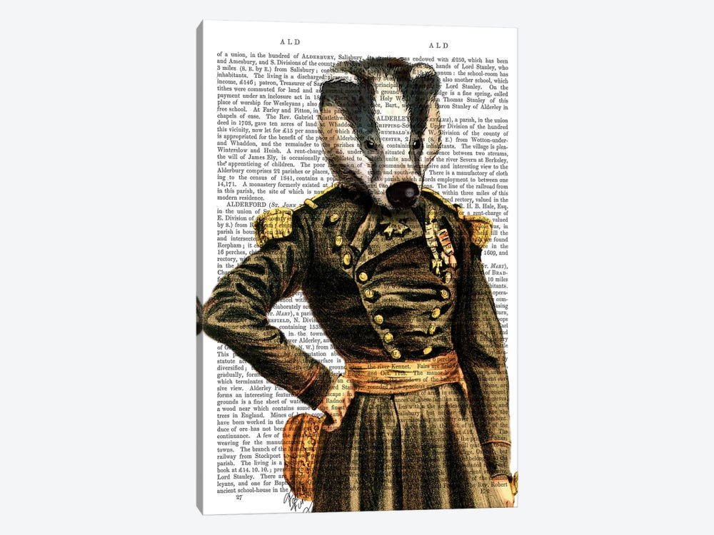 General Badger by Fab Funky 1-piece Canvas Art