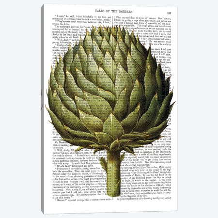 Globe Artichoke Canvas Print #FNK1076} by Fab Funky Canvas Art Print