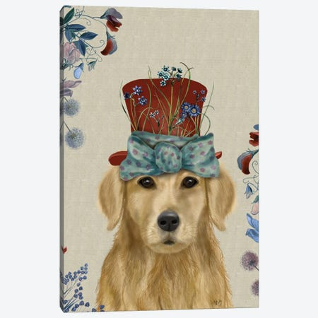 Golden Retriever II Canvas Print #FNK108} by Fab Funky Canvas Art Print