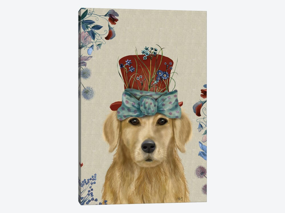 Golden Retriever II by Fab Funky 1-piece Canvas Print