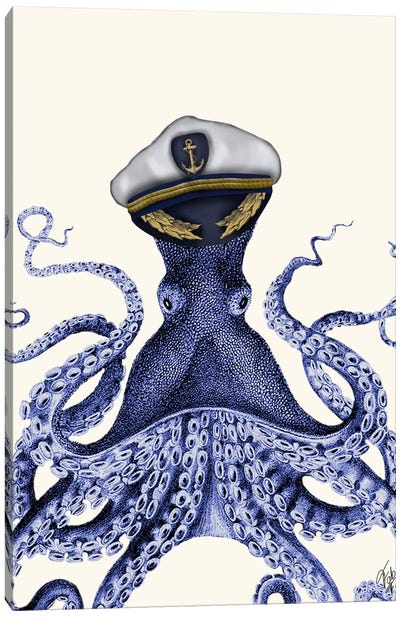 Captain Octopus Canvas Art Print