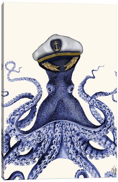 Captain Octopus Canvas Art Print