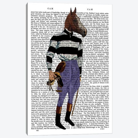 Horse Racing Jockey Canvas Print #FNK1105} by Fab Funky Canvas Art Print