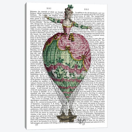 Hot Air Balloon Woman II Canvas Print #FNK1108} by Fab Funky Canvas Art