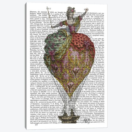 Hot Air Balloon Woman III Canvas Print #FNK1109} by Fab Funky Canvas Wall Art