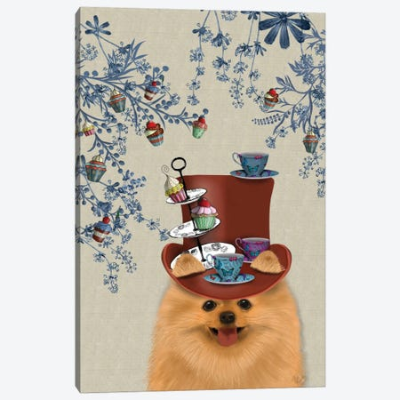 Pomeranian II Canvas Print #FNK110} by Fab Funky Canvas Wall Art