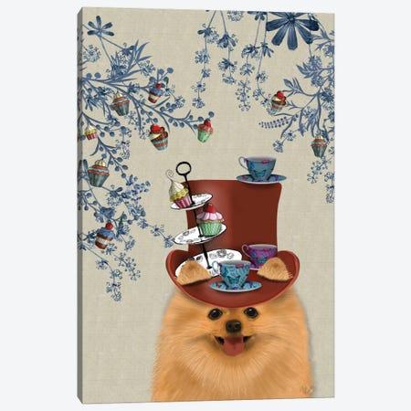 Pomeranian II Canvas Print #FNK110} by Fab Funky Canvas Wall Art