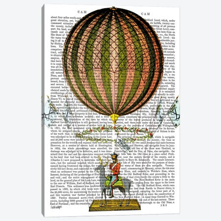 Hot Air Balloon Zephire Canvas Print #FNK1110} by Fab Funky Canvas Art Print
