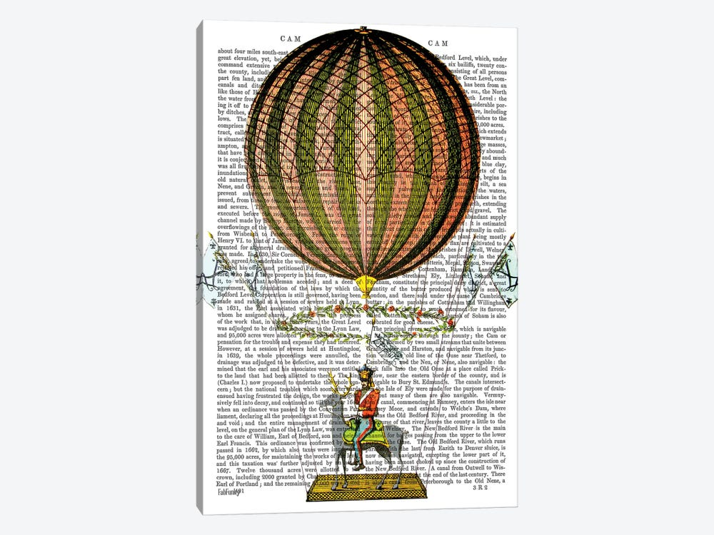 Hot Air Balloon Zephire 1-piece Canvas Art Print