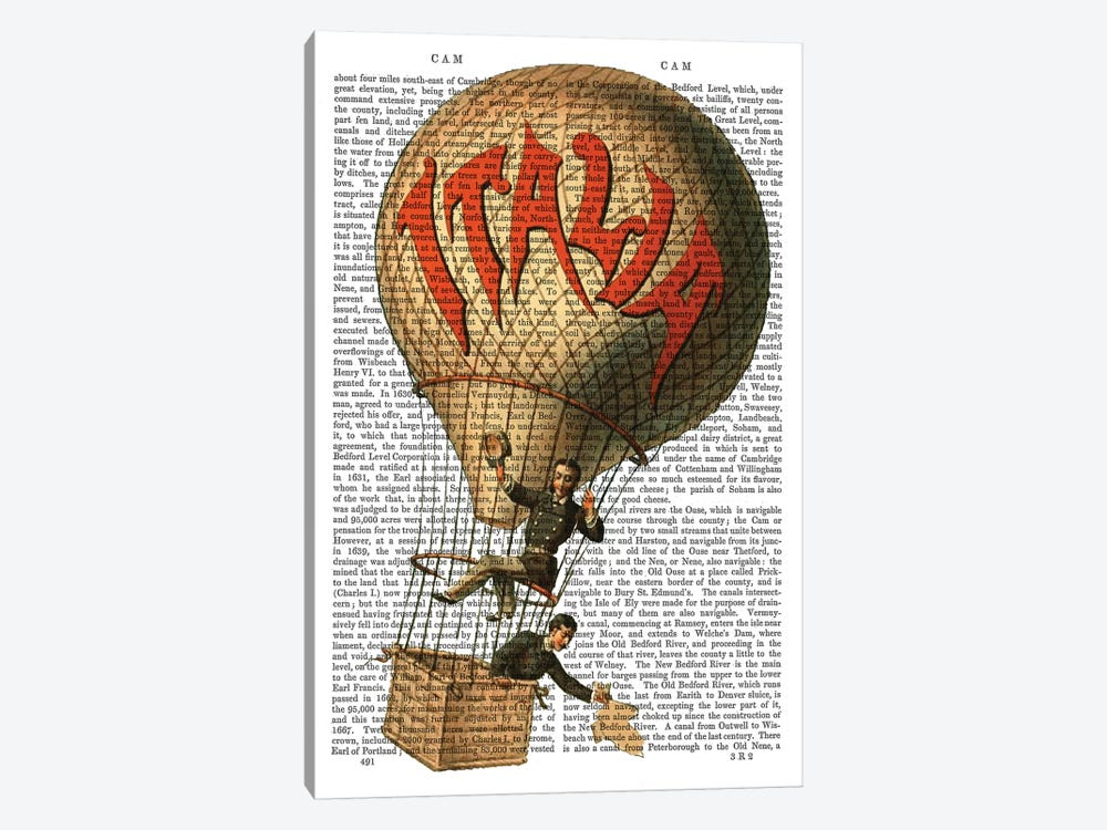 Italia Hot Air Balloon by Fab Funky 1-piece Canvas Wall Art