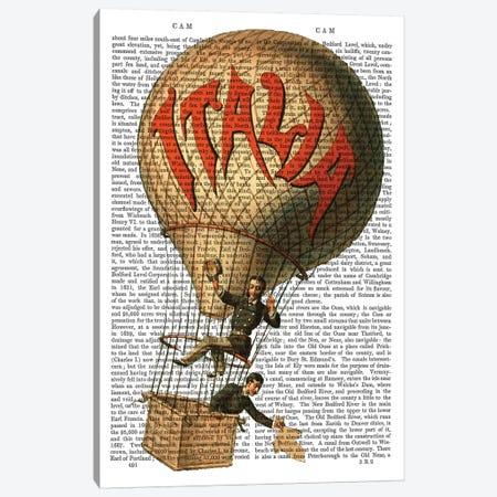 Italia Hot Air Balloon Canvas Print #FNK1122} by Fab Funky Canvas Art