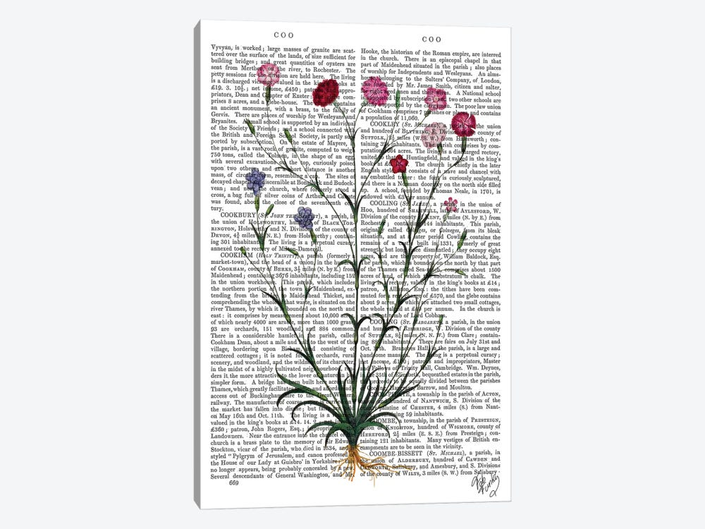 Italian Carnation V by Fab Funky 1-piece Canvas Wall Art