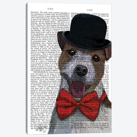 Jack Russell Union Jack Canvas Print #FNK1127} by Fab Funky Canvas Print