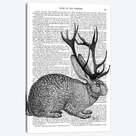 Jackalope Portrait I Canvas Print #FNK1128} by Fab Funky Canvas Art