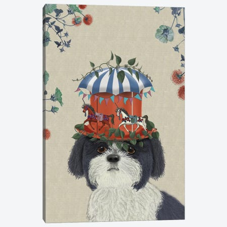 Shih Tzu II Canvas Print #FNK112} by Fab Funky Canvas Wall Art