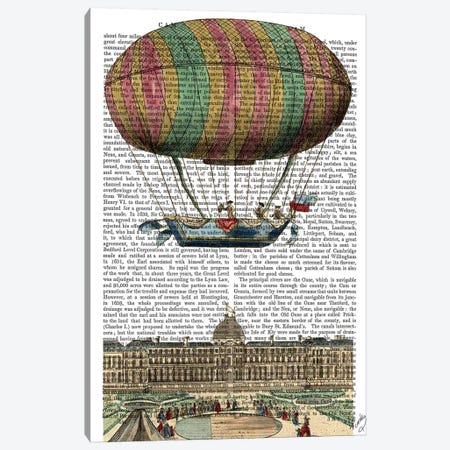 Jardin de Tuileries Hot Air Balloon Canvas Print #FNK1131} by Fab Funky Canvas Print