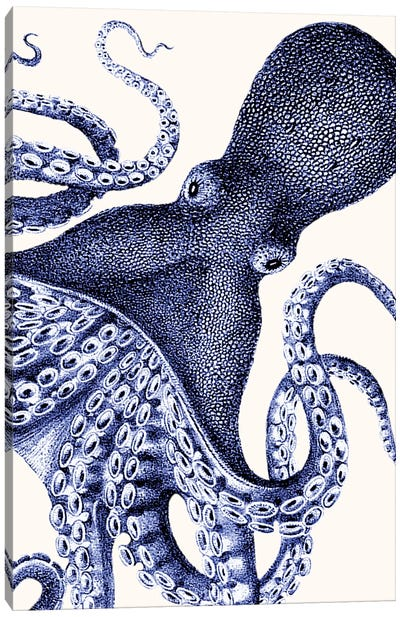 Landscape Blue Octopus Canvas Art Print