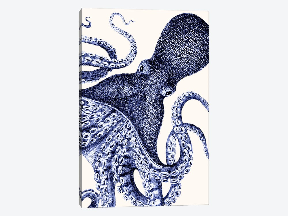Landscape Blue Octopus by Fab Funky 1-piece Canvas Art Print
