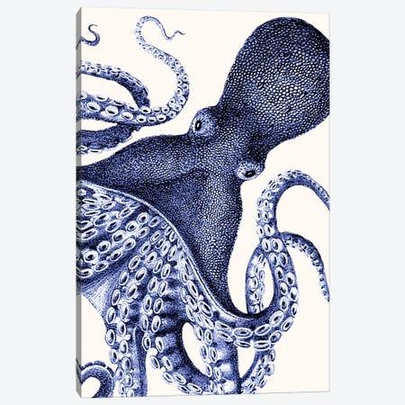 Landscape Blue Octopus Canvas Print #FNK1136} by Fab Funky Canvas Wall Art