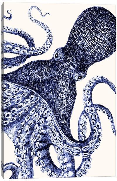 Landscape Blue Octopus Canvas Art Print