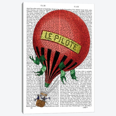 Le Pilote Hot Air Balloon Canvas Print #FNK1137} by Fab Funky Canvas Artwork