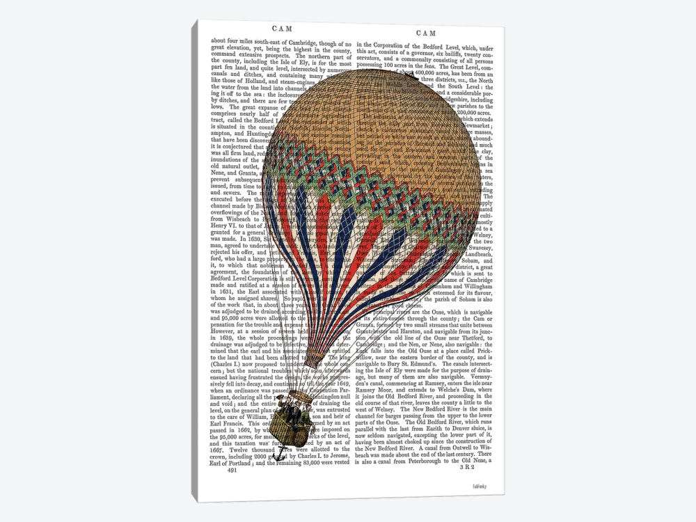 Le Tricolore by Fab Funky 1-piece Canvas Art Print