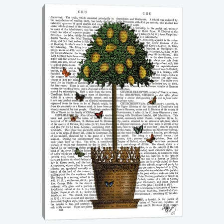 Lemon Tree Canvas Print #FNK1139} by Fab Funky Art Print