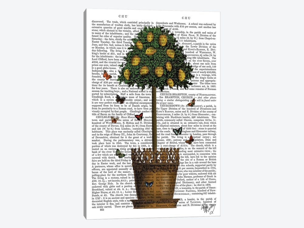 Lemon Tree by Fab Funky 1-piece Canvas Wall Art