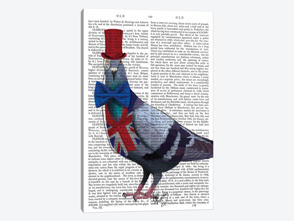 London Pigeon by Fab Funky 1-piece Canvas Art
