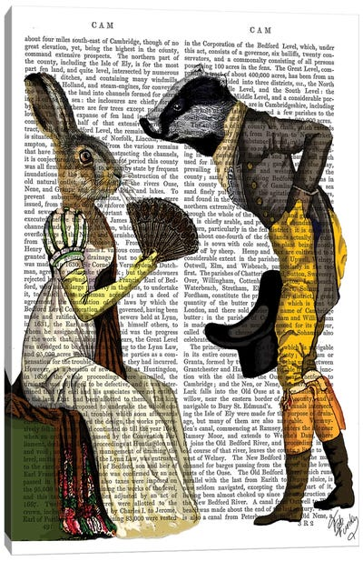 Look Of Love Regency Badger & Hare Couple Canvas Art Print