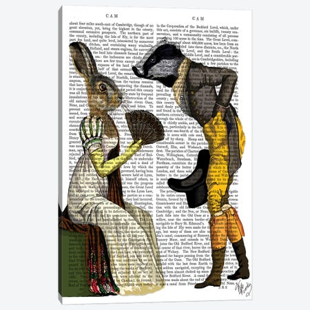 Look Of Love Regency Badger & Hare Couple 3-Piece Canvas #FNK1145} by Fab Funky Canvas Art Print