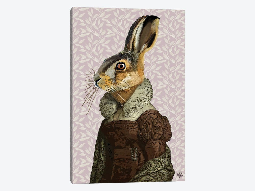 Madam Hare by Fab Funky 1-piece Art Print