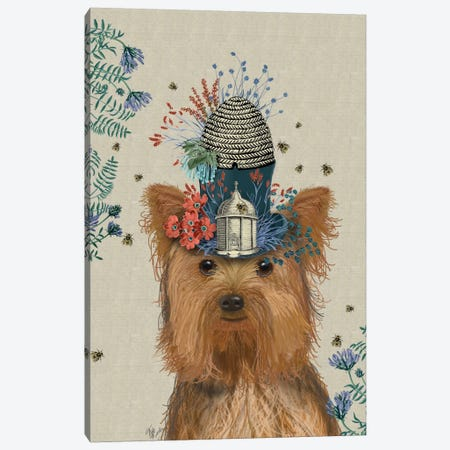 Yorkshire Terrier II Canvas Print #FNK114} by Fab Funky Canvas Print