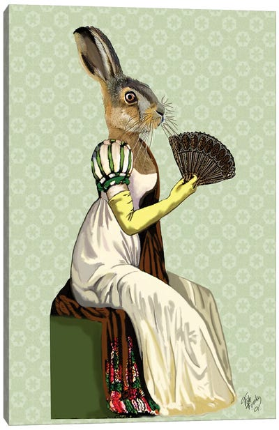 Miss Hare Canvas Art Print