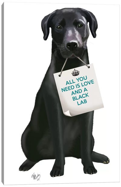 Black Labrador Canvas Art Print