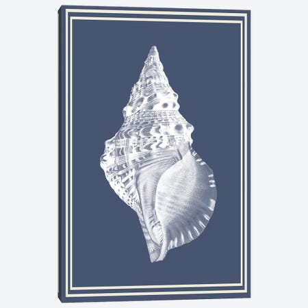 Mixed Nautical White On Indigo Blue III Canvas Print #FNK1165} by Fab Funky Art Print