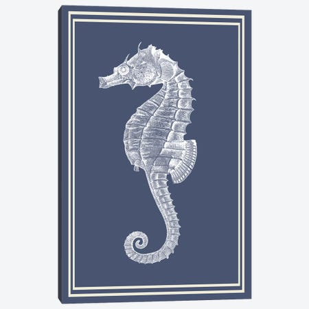 Mixed Nautical White On Indigo Blue IV Canvas Print #FNK1166} by Fab Funky Art Print