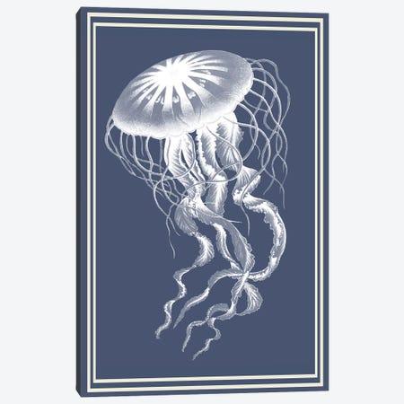 Mixed Nautical White On Indigo Blue V Canvas Print #FNK1167} by Fab Funky Art Print
