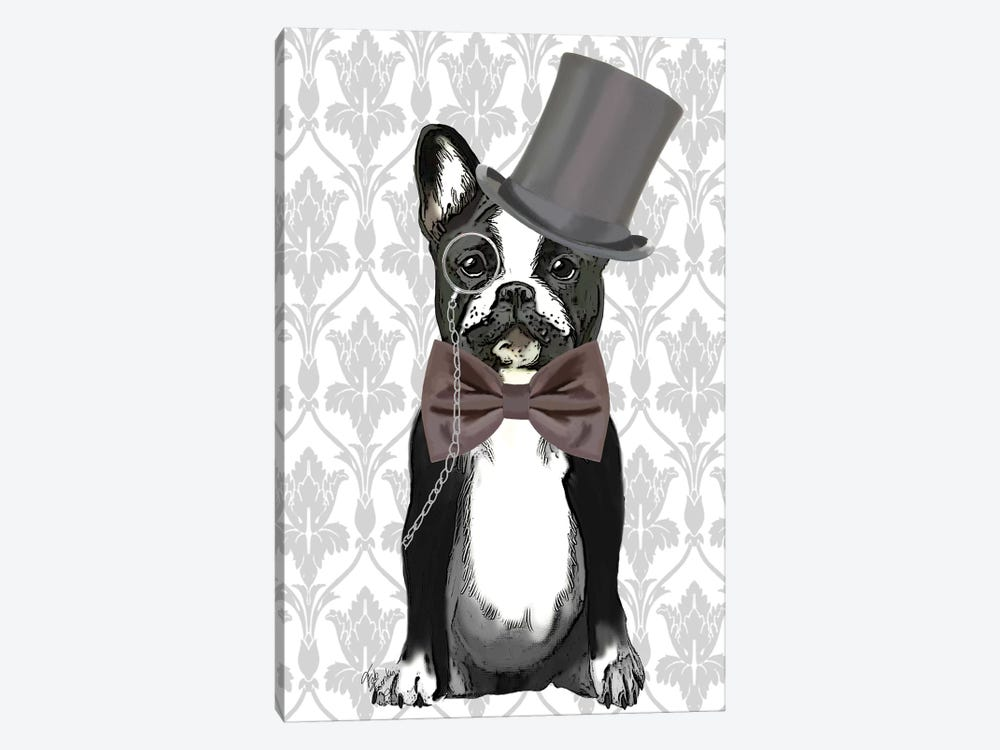 Monsieur Bulldog by Fab Funky 1-piece Canvas Art Print