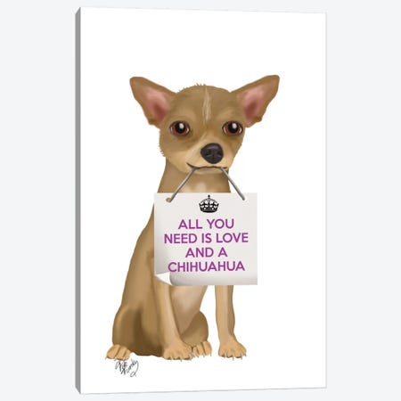 Chihuahua Canvas Print #FNK117} by Fab Funky Art Print