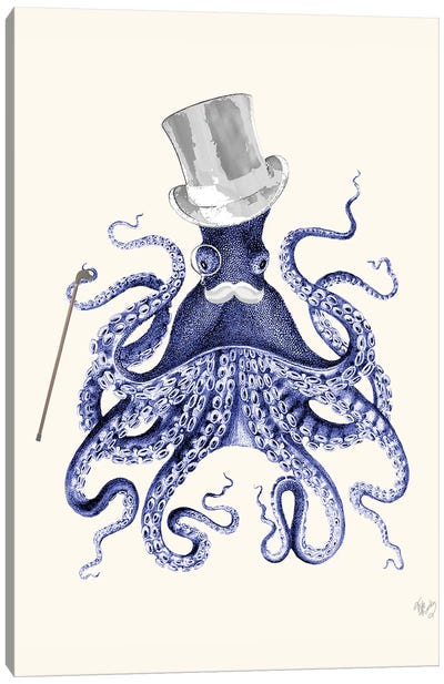 Octopus About Town Canvas Art Print