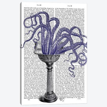 Octopus In Sink Canvas Print #FNK1186} by Fab Funky Art Print
