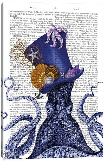Octopus Nautical Hat Canvas Art Print